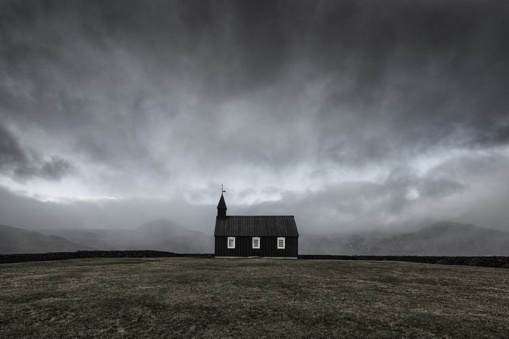 Black church of Budir by Mads Peter Iversen