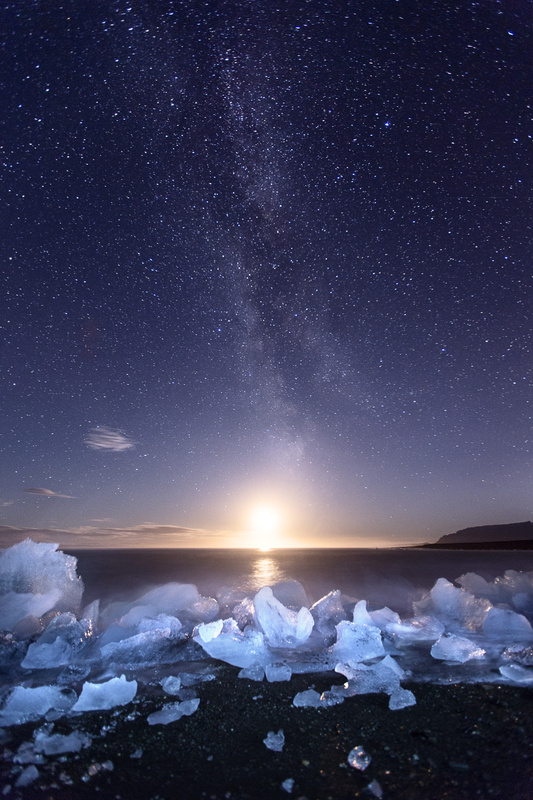 Icy Beach Milky Way by Mads Peter Iversen