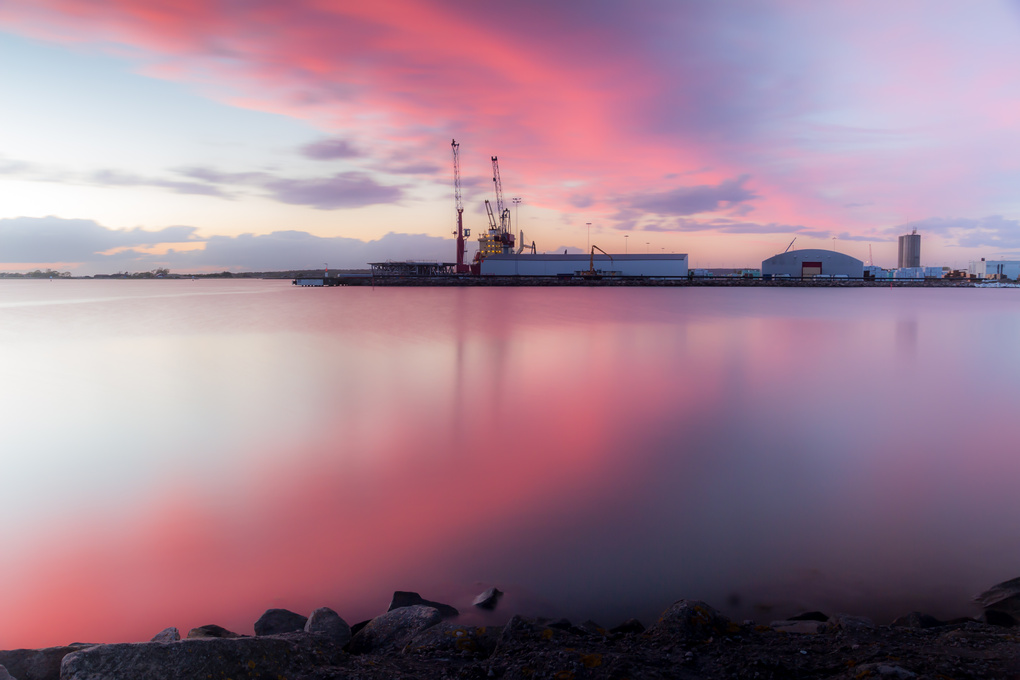 Varberg harbour by Philip Andersson