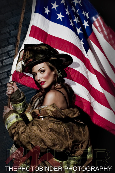 Salute to Fireman by Robin Binder