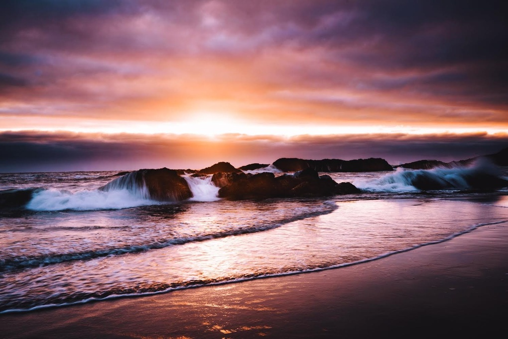 Seal Rock Sunset by Casey Berner