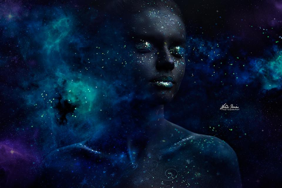 universe expressing Itself as a human by Valentin Beraru