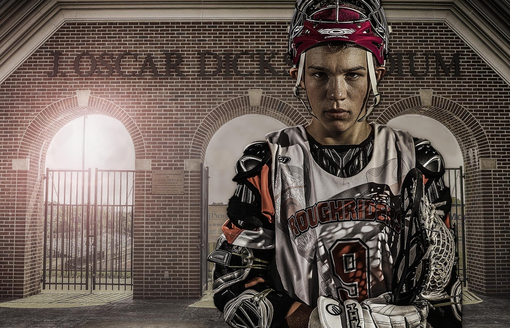 Lacrosse Player Composite by Michael Green