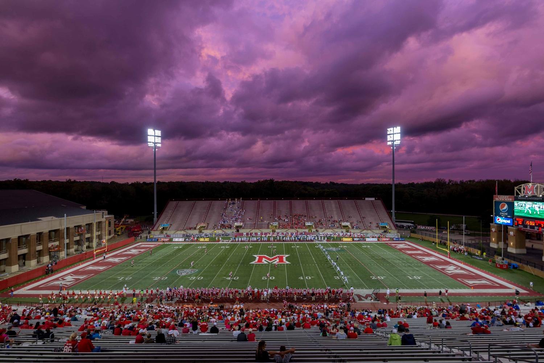 Yager Stadium Sunset by Ricardo Treviño Jr.