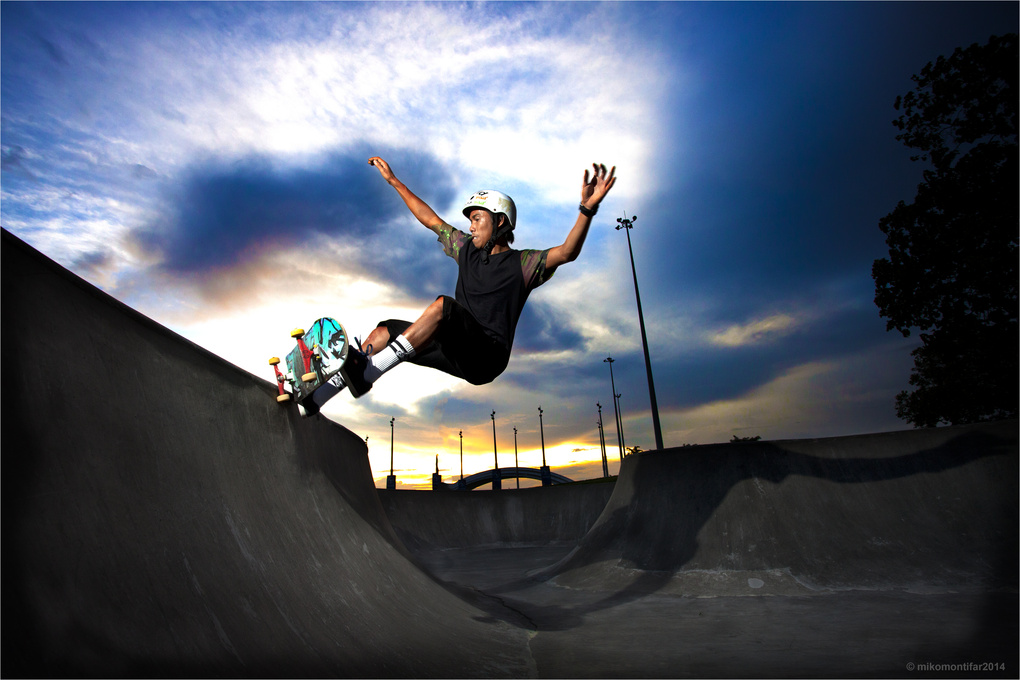Afternoon Skate Session by Miko Montifar