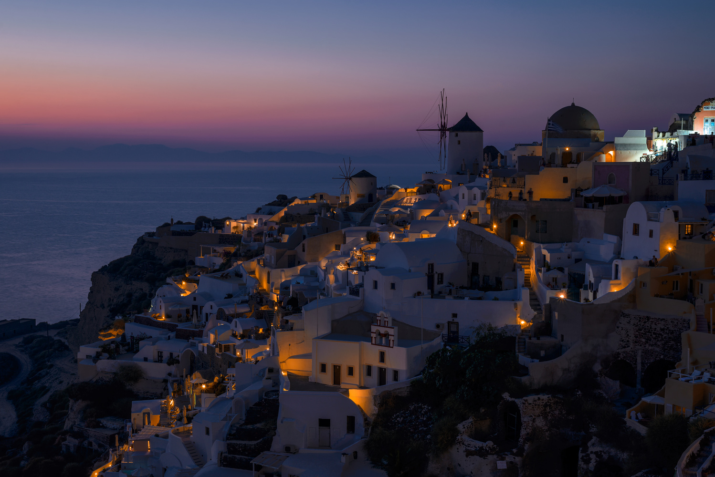 Santorini Twilight by Bill Peppas