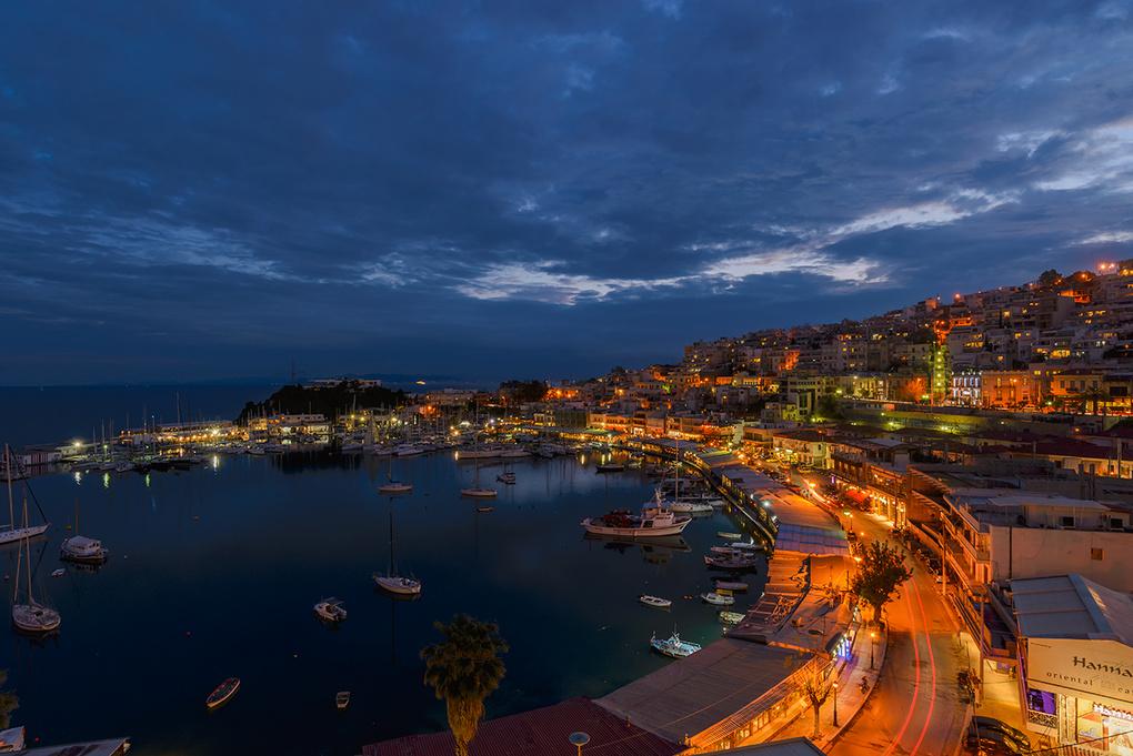 Piraeus at Dusk by Bill Peppas