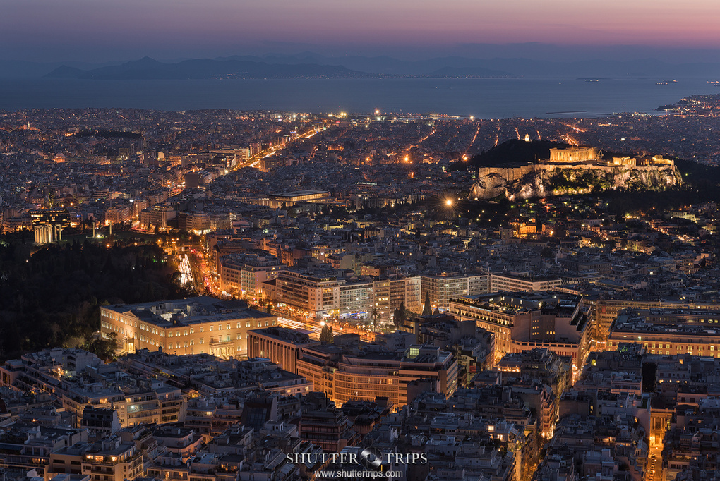 Athens by Night by Bill Peppas