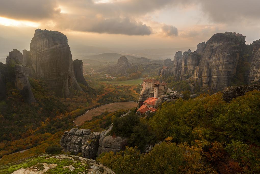 The Meteora Valley - Greece by Bill Peppas