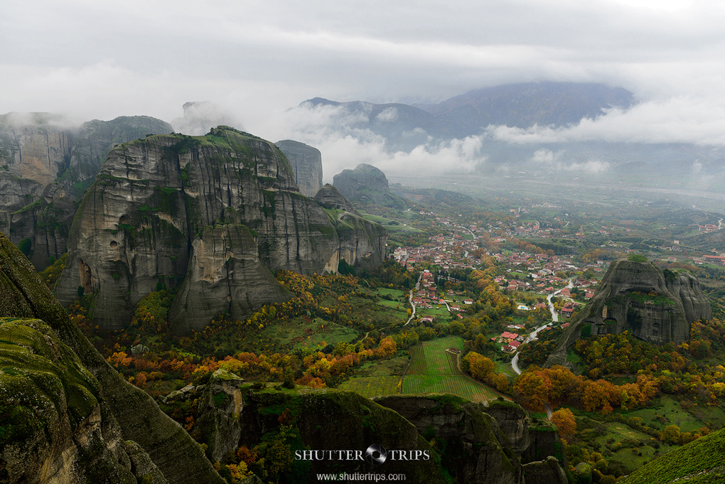 The Meteora Valley by ShutterTrips.com by Bill Peppas