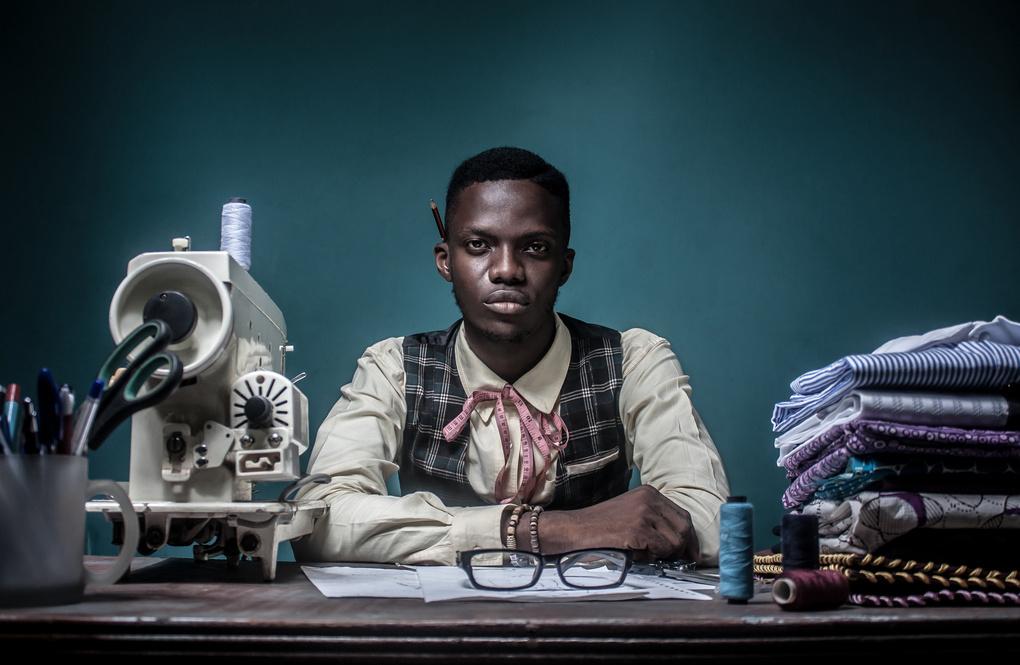 Portrait of a fashion designer  by Bami Ogungbe