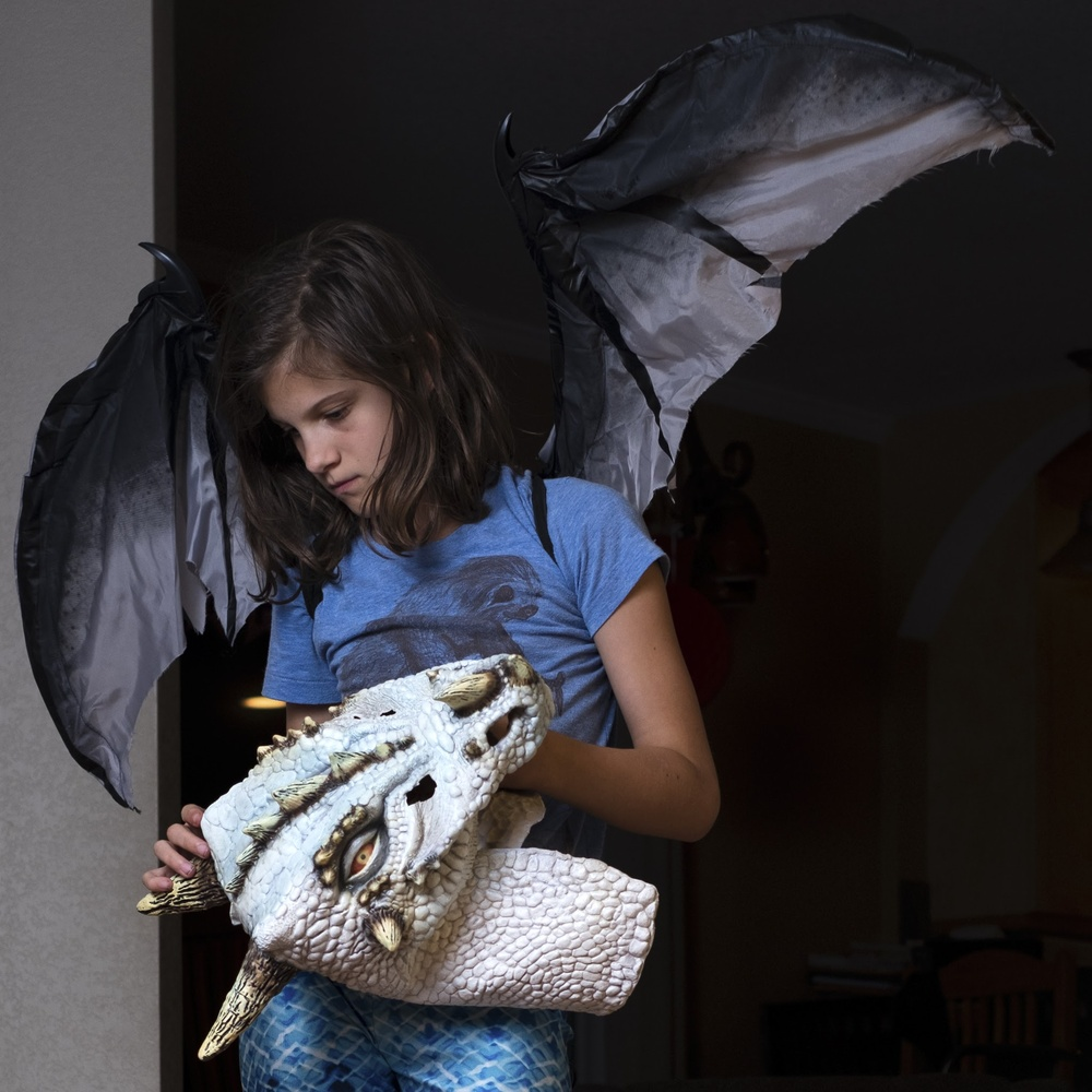 Amelia, with wings by Moishe Lettvin