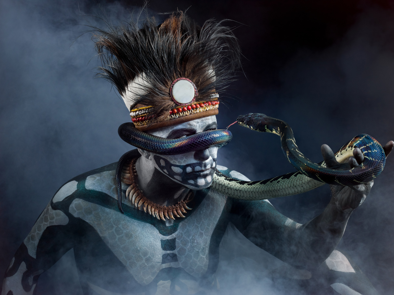 New Guinea Snake Charmer by Juan Osorio
