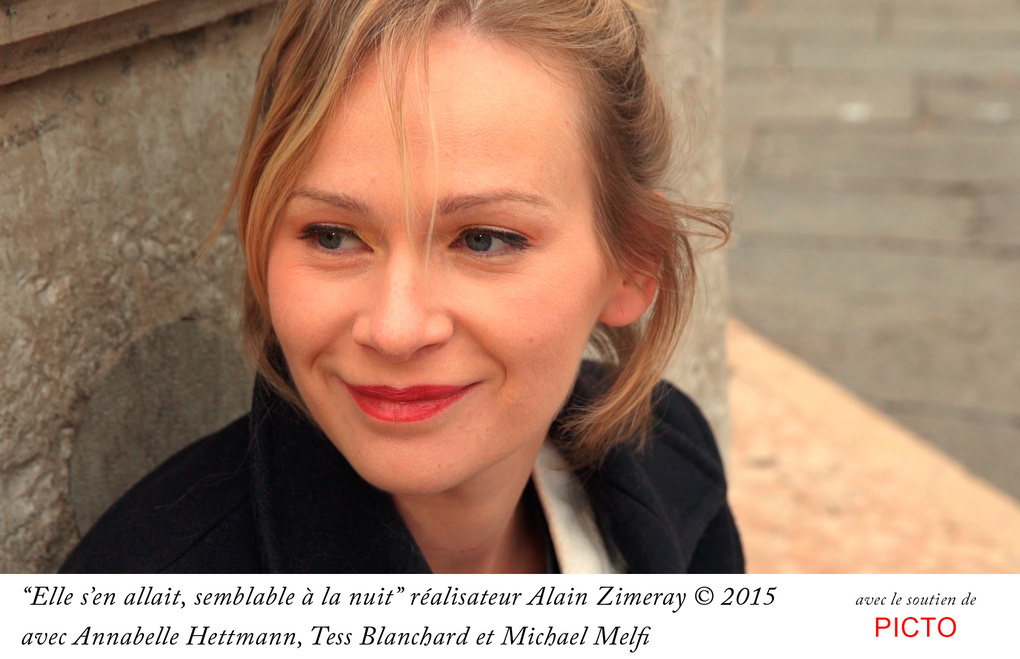 Maiden smiling at the Death by Alain Zimeray