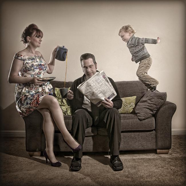 Family Tea Time by George Fairbairn