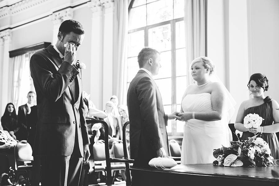 Best man crying by Andy Turner