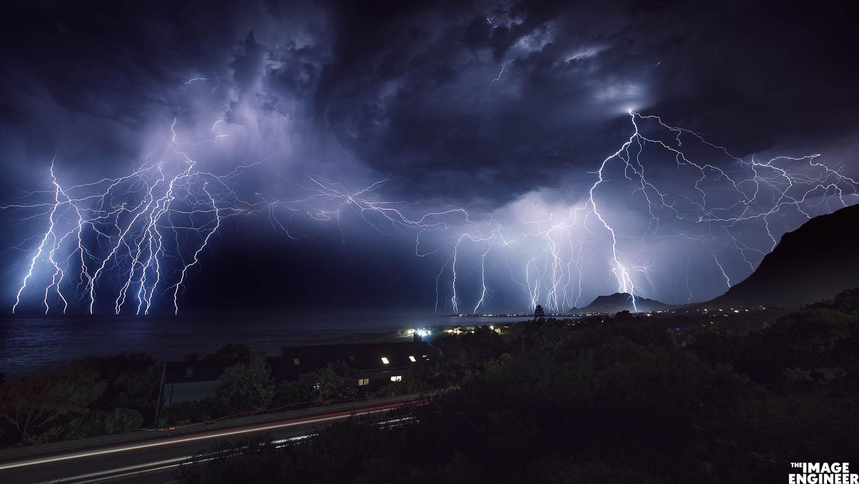 Betty's Bay Lightning Storm by Fred van Leeuwen