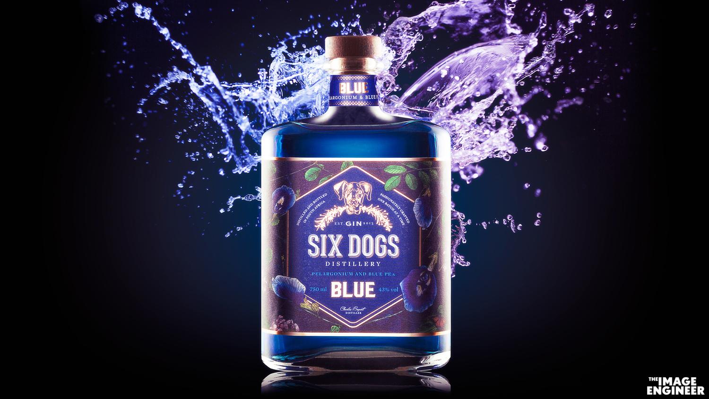 Six Dogs Blue Gin by Fred van Leeuwen
