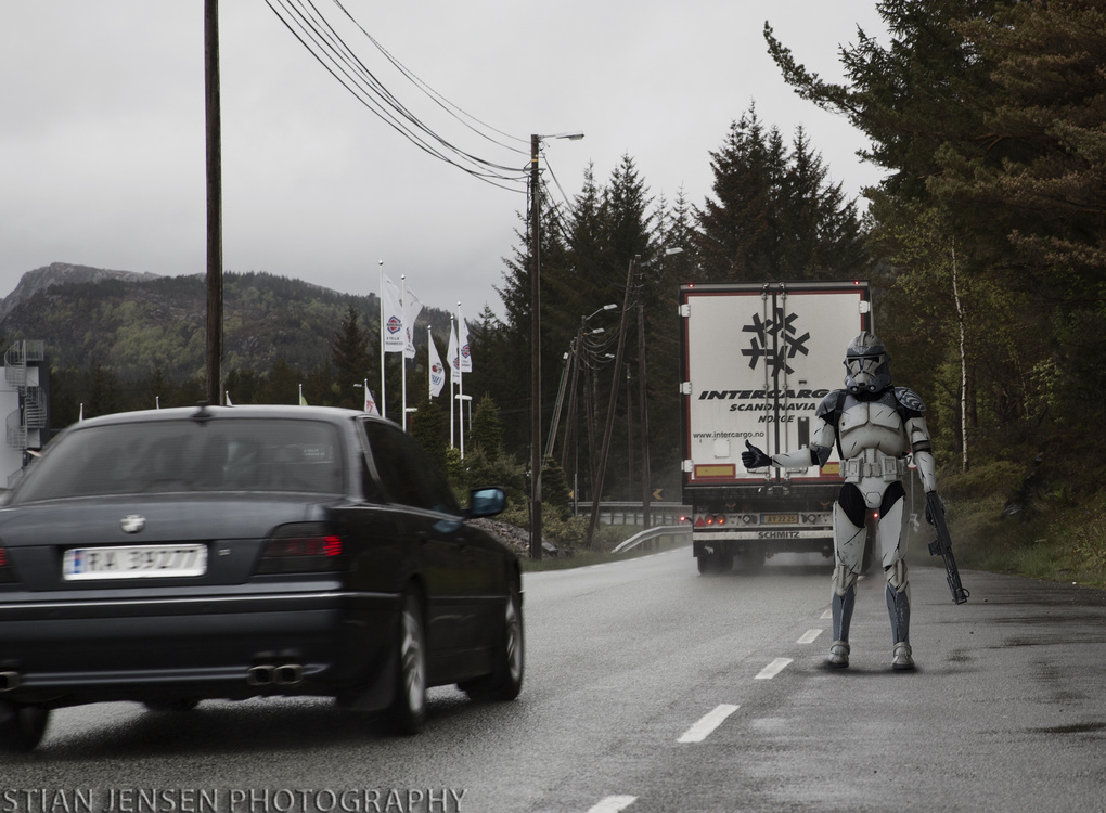 Pick up a trooper?  by stian jensen