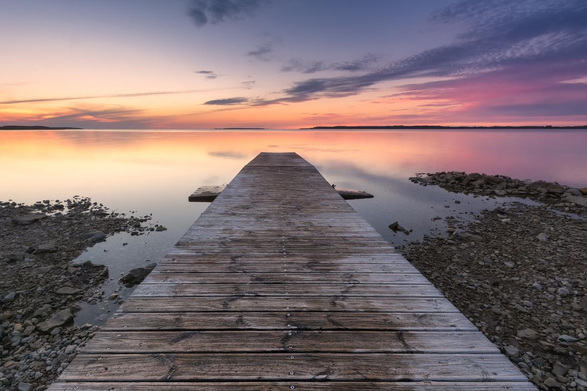 Sunset at Saaremaa, Estonia by Imre Aunapuu