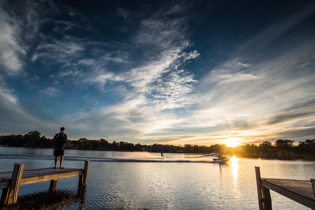 A Day at the Lake by Carlos Romero