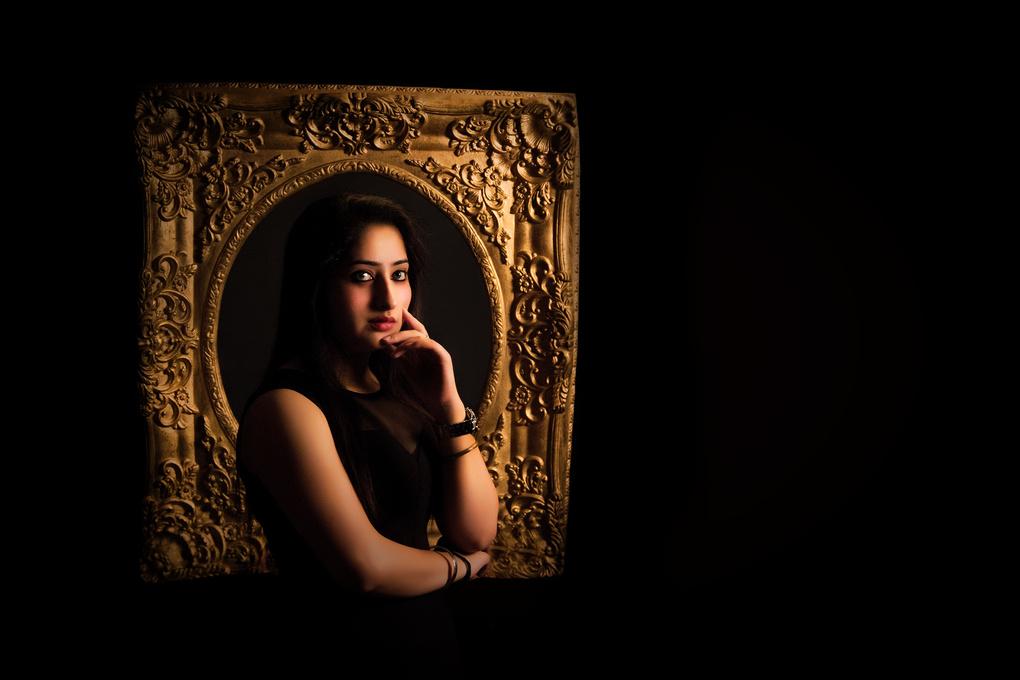 Golden Portrait by Abdul Rahman