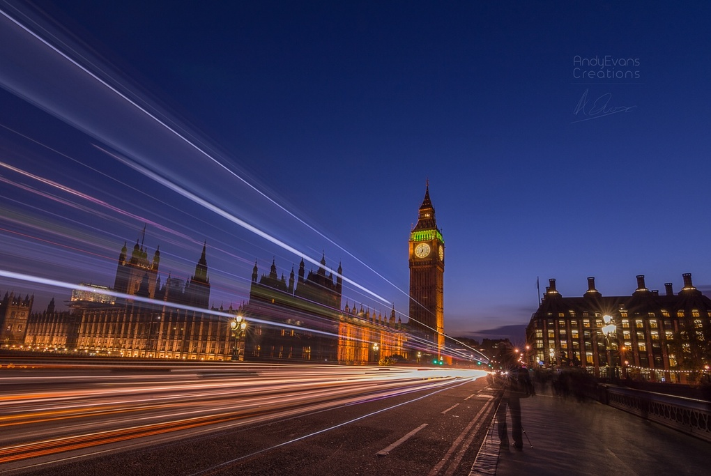 Westminster rush  by Andy Evans