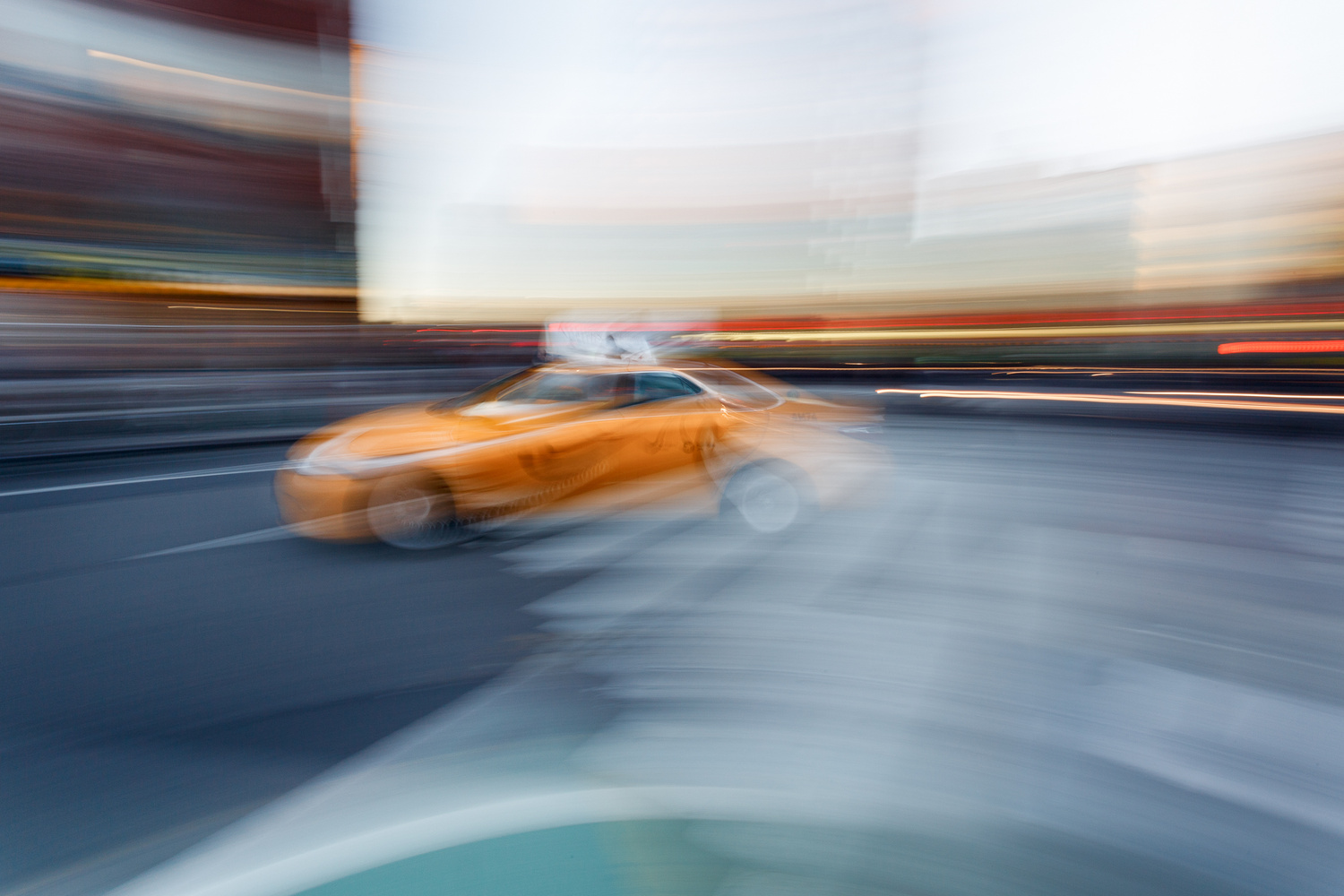 New York Taxi in a New York Minute by Marc DeGeorge