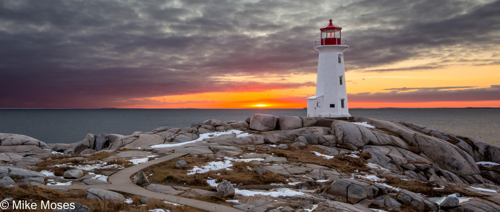 Peggy's Cove Sunset by Mike Moses