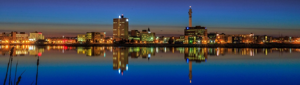 Moncton NB Blue Hour by Mike Moses