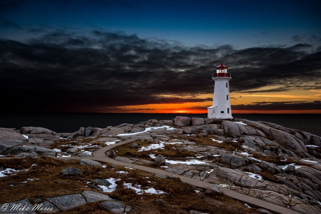 Peggy's Cove Blue Hour by Mike Moses