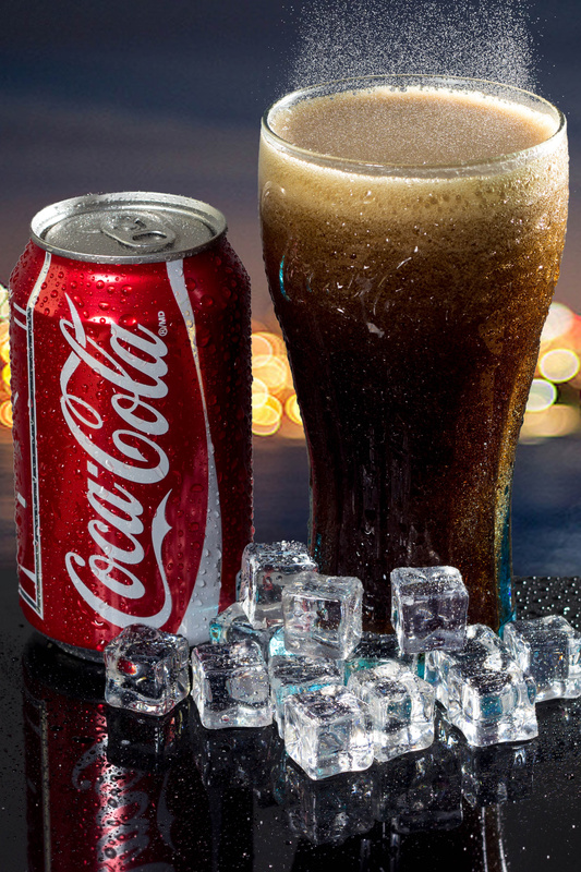 Coke Product Shot by Mike Moses