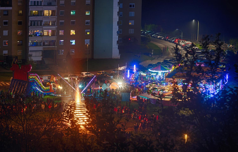 labor day fest with bonfire by Nace Zavrl