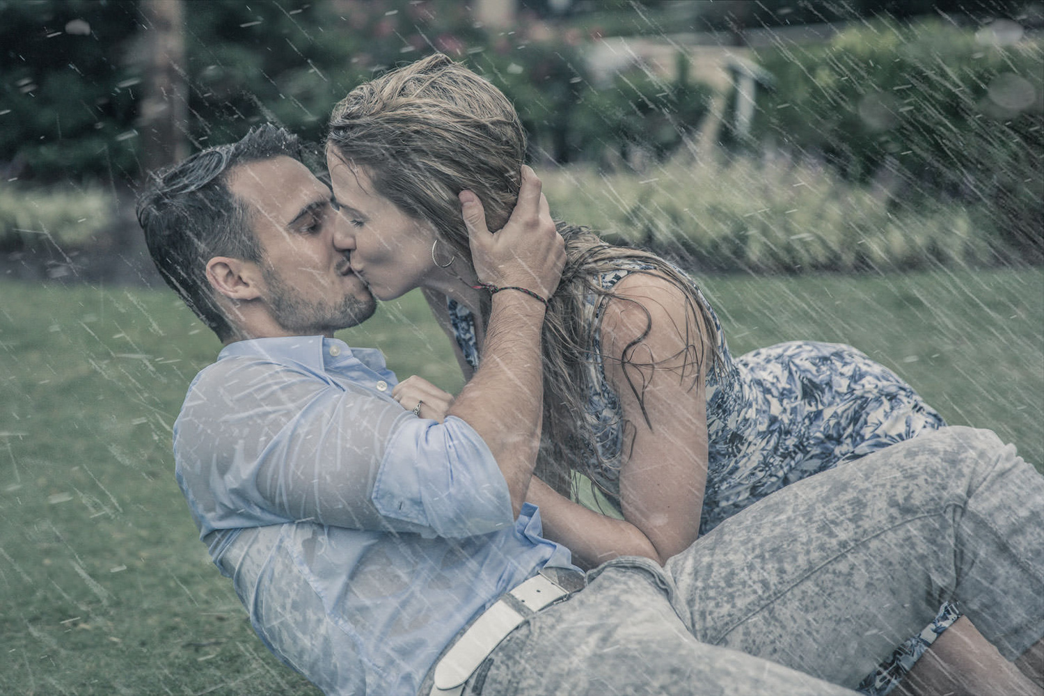 Engagement in the Rain by Peter Togel