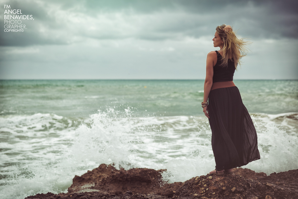Women outdoor beach by Angel Bena