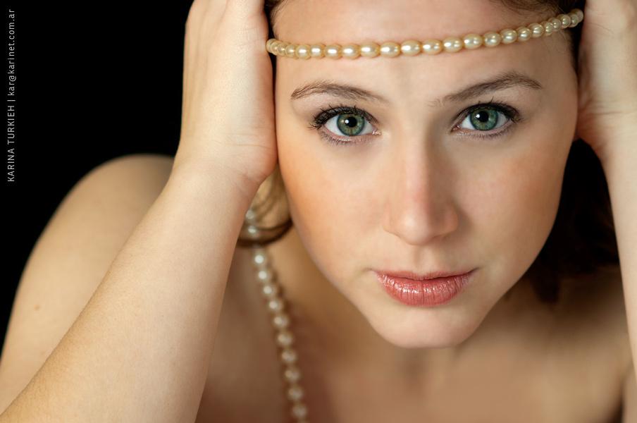 Mariana with pearls by Karina Turkieh