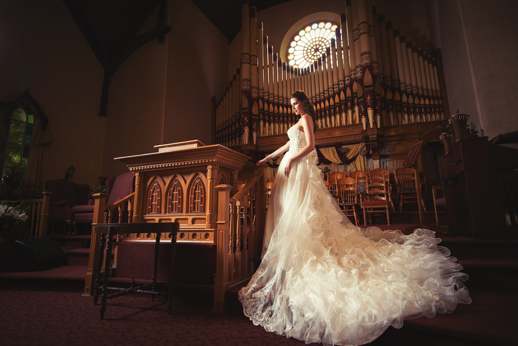 Bridal Photo Shoot in Church by Kyle Cong