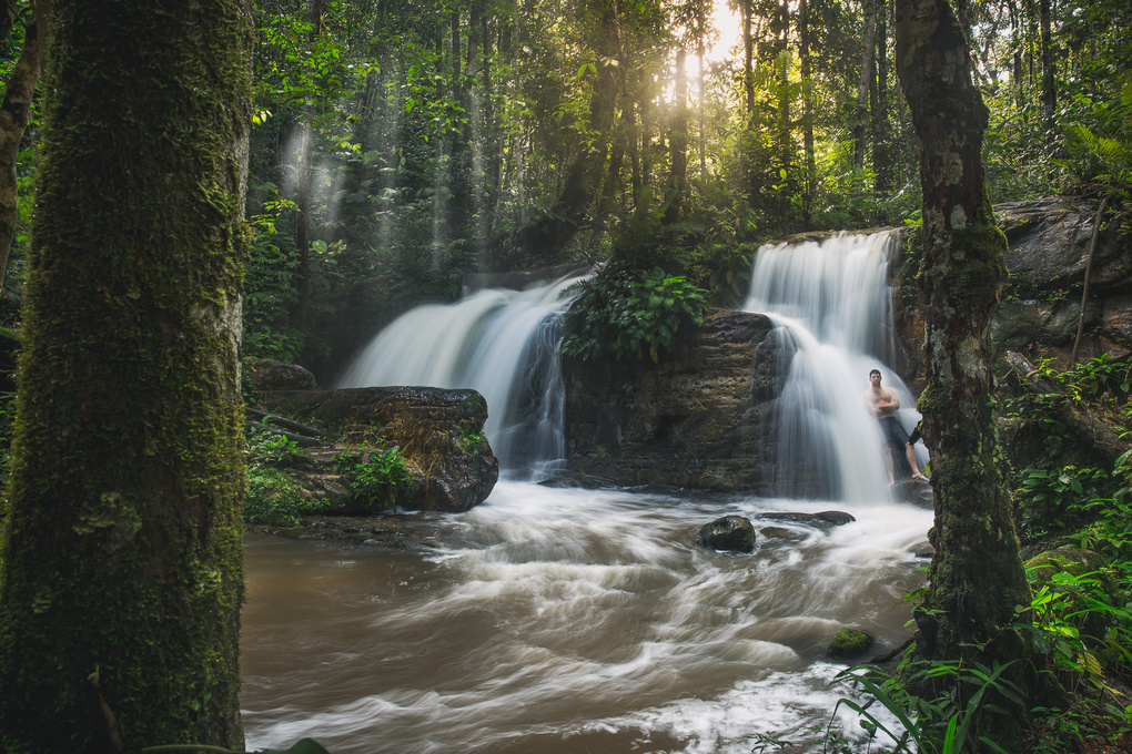 Showering in the Amazon by Briana May
