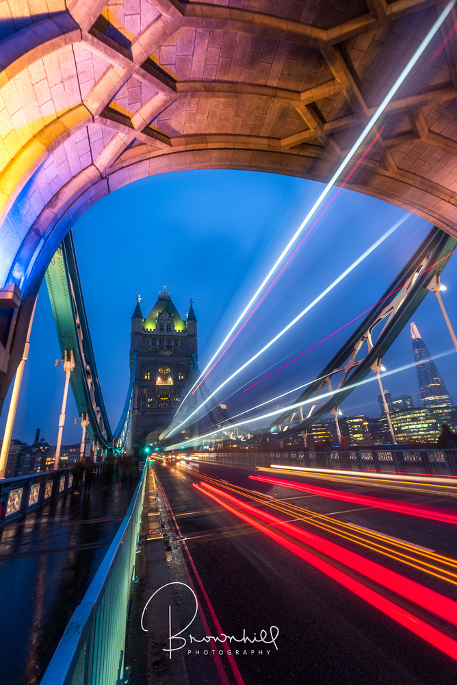 London bridge night by stephen brownhill