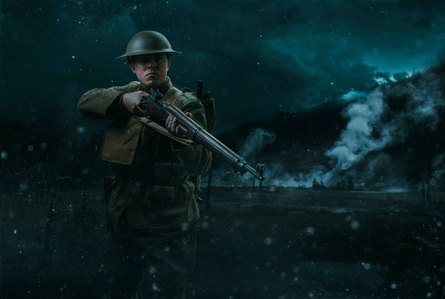 America WWI Soldier in battle by Justin Lister