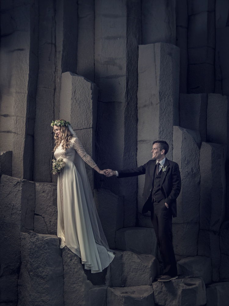 Wedding at Reynisfjara by Marinó Flóvent