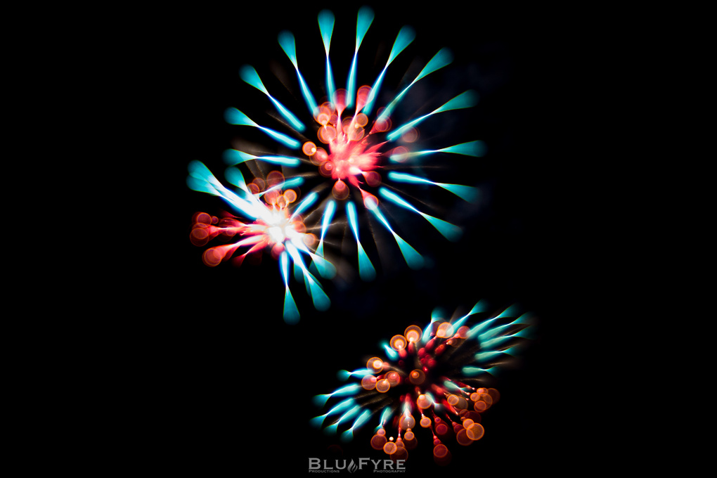 Bokeh Luscious Fireworks by Alberto Asencio