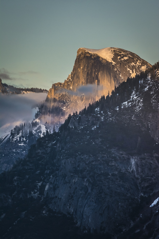 Alpen Glow on Half Dome by Chris Ramsey