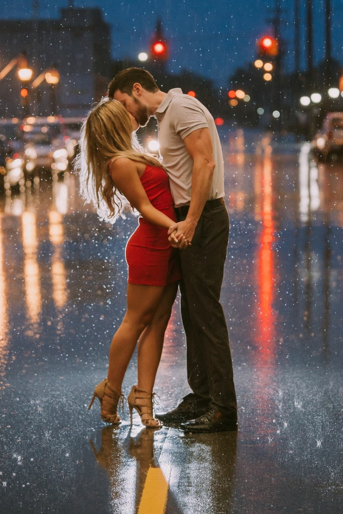 Kiss me in the rain by shelley vinson