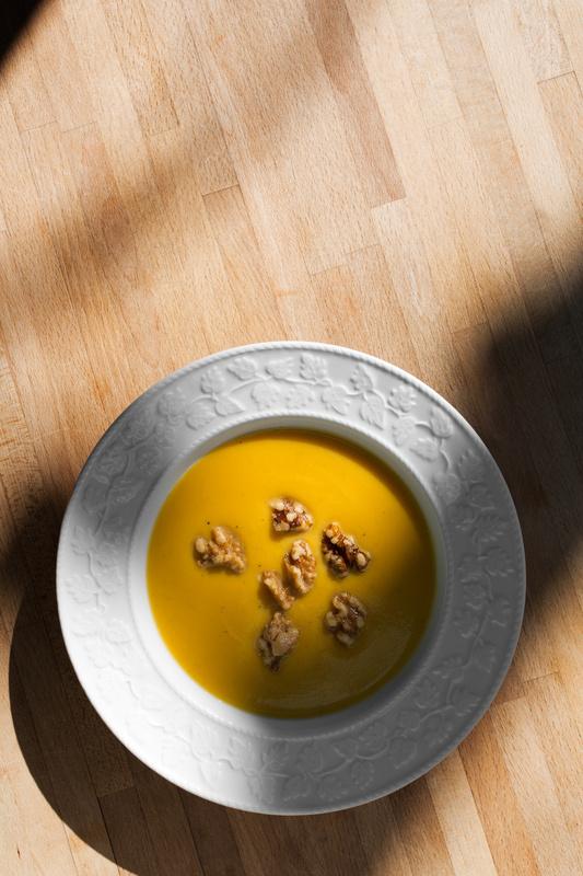 Pumpkin Walnut Soup by Michael Fornataro