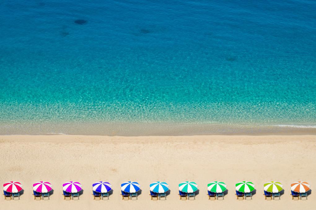 Rainbow Umbrellas by Alexios Ntounas