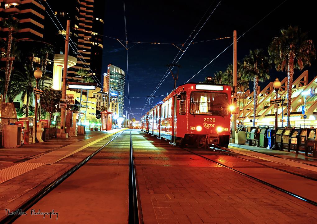 San Diego Trolley by Ted Litke