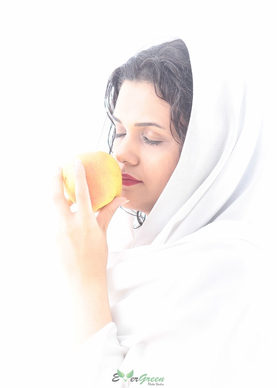 Life is an apple, should bite with skin by Shahed Sohrabi