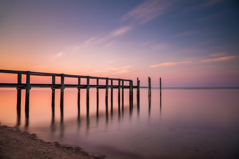 Cape Cod Sunrise - Dock Angle (121s) by Michael B. Stuart
