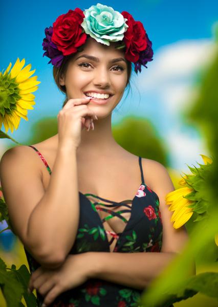 sun flower fields 1 by Narada Williams